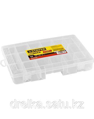 Органайзер для инструментов STAYER 38051-11, MULTYSHEL MINI, пластиковый, для крепежа и принадлежностей, фото 2