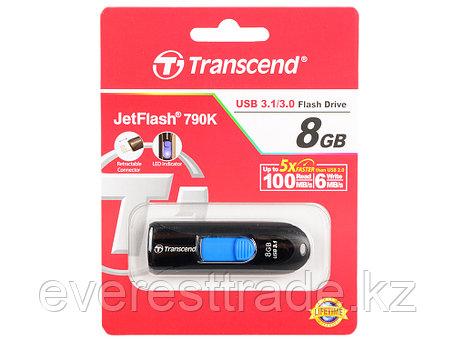 USB Флеш 8GB 3.0 Transcend TS8GJF790K черный, фото 2