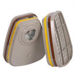 Патрон сменный для полумаски (фильтр) 3М 6057