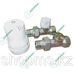 Набор для подключения радиатора с термостатической головкой 1/2 прямой Comisa