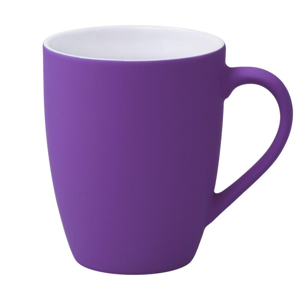 Кружка Good Morning c покрытием софт-тач, фиолетовая