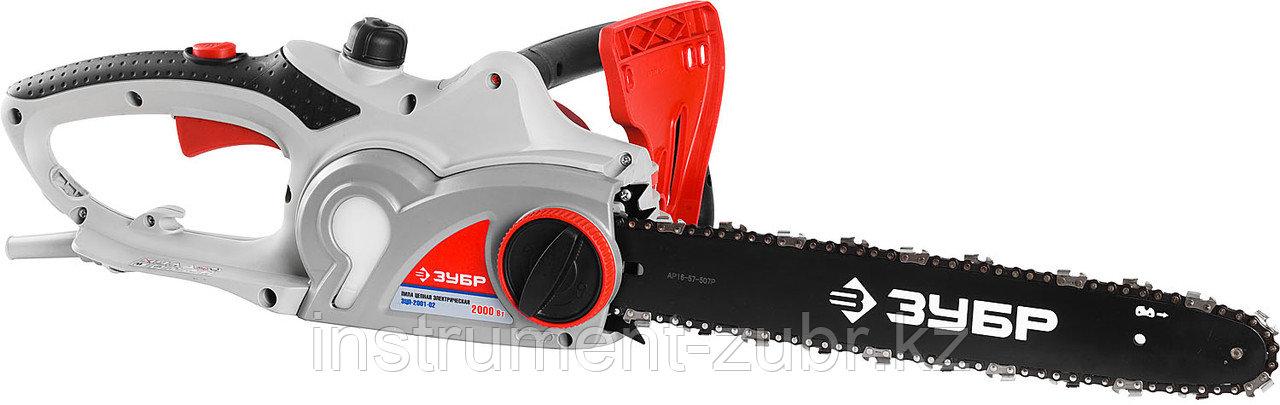Пила цепная (электропила),поперечный двиг-ль, защита руки,смена цепи без ключа, шина 40см, 2000 Вт