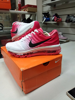 Женские кроссовки nike air max 2017 Version III (3) White pink, фото 2