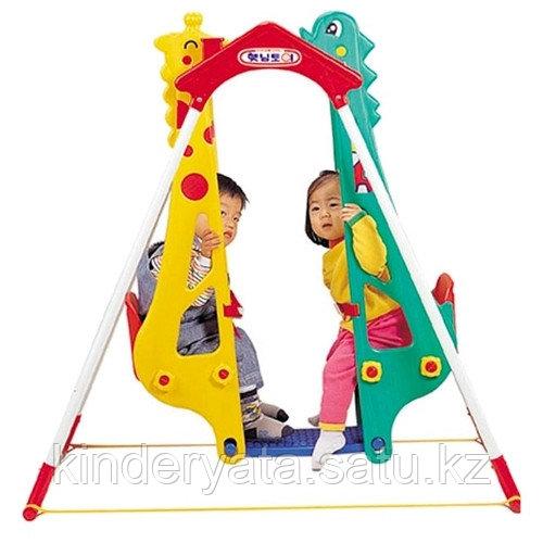 """Haenim Toy Качели """"Жираф-Дракон"""" для двоих детей (DS-710)"""