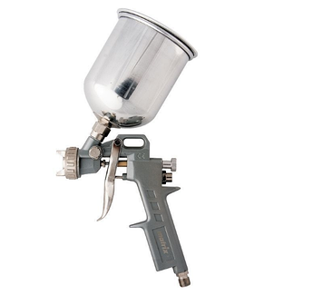 (57315) Краскораспылитель пневмат. с верхним бачком V=1,0 л + сопла диаметром 1.2, 1.5 и 1.8 мм// MATRIX