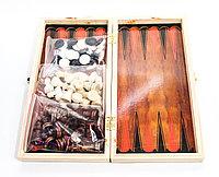 Набор 3 в 1, шахматы, нарды, шашки, 28*14 см