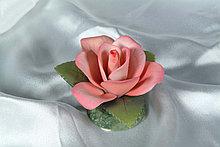 Фарфоровый цветок Роза. Италия. Ручная работа