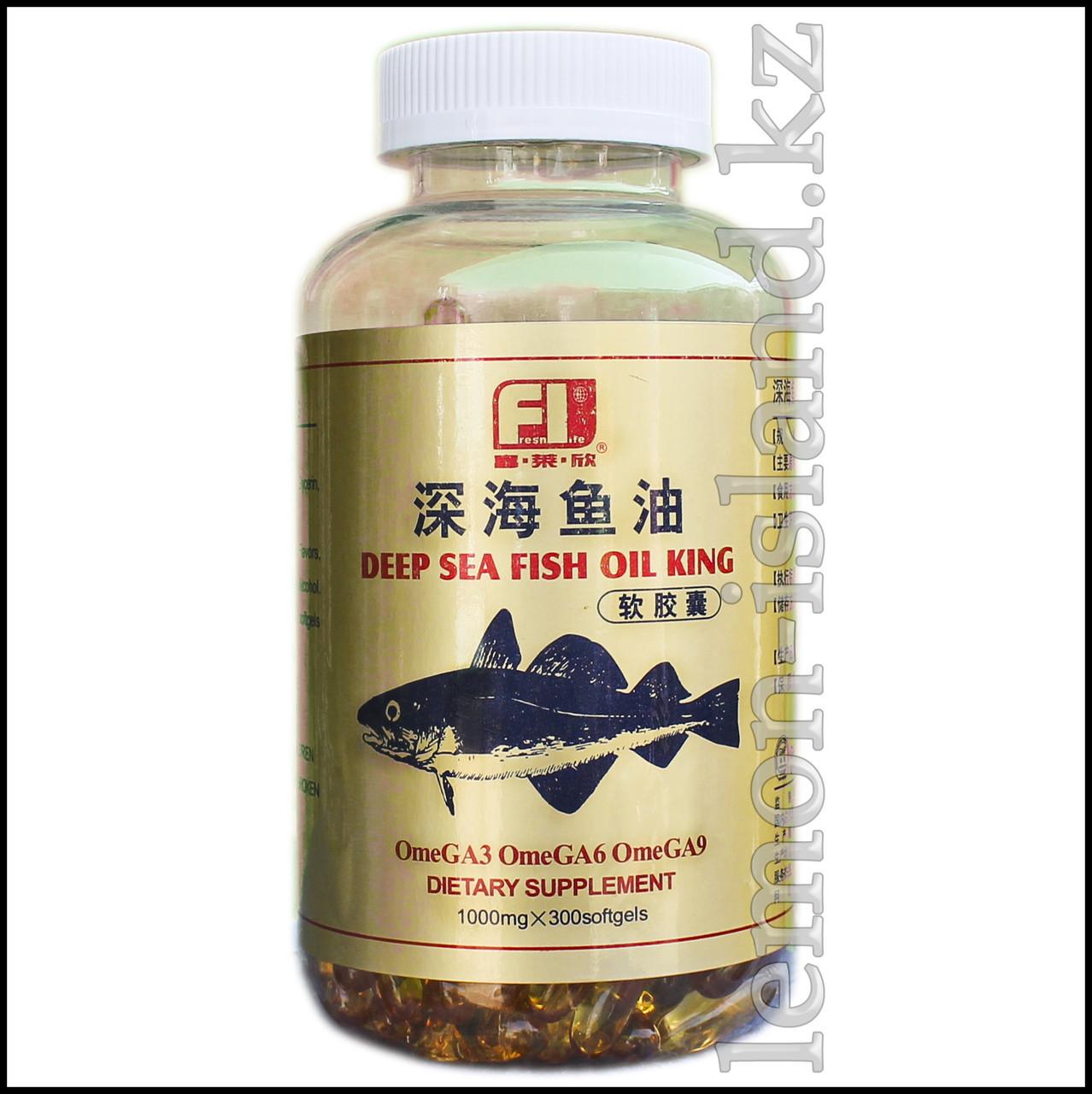 Рыбий жир (Омега 3,6,9), 300 капсул.