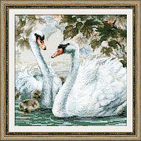 """Набор для вышивания крестом """"Белые лебеди"""", фото 1"""