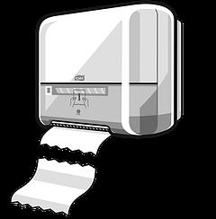 Диспенсеры для бумажных полотенец.