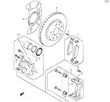 Крепление передних тормозных колодок SX4, фото 3