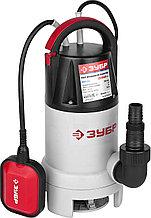 Насос погружной, ЗУБР ЗНПГ-550, для грязной воды, 550 Вт, пропускная способность 200 л/мин, напор 7 м, провод 10 м