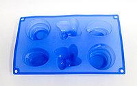 """Силиконовая форма для кексов, прямоугольная,""""Фигуры"""", 27*18 см"""