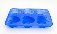 """Силиконовая форма для кексов, прямоугольная,""""Сердечки"""", 24*14 см"""