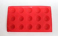 Силиконовая форма для кексов, прямоугольная, красная, 29*17 см