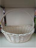 Корзина плетеная  из лозы Белая 44 см, фото 3