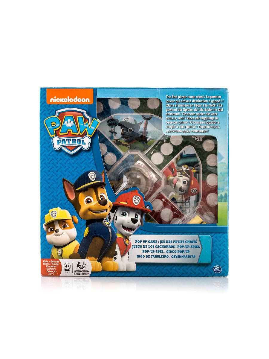 Настольная игра Spinmaster с кубиком и фишками Щенячий Патруль мал.