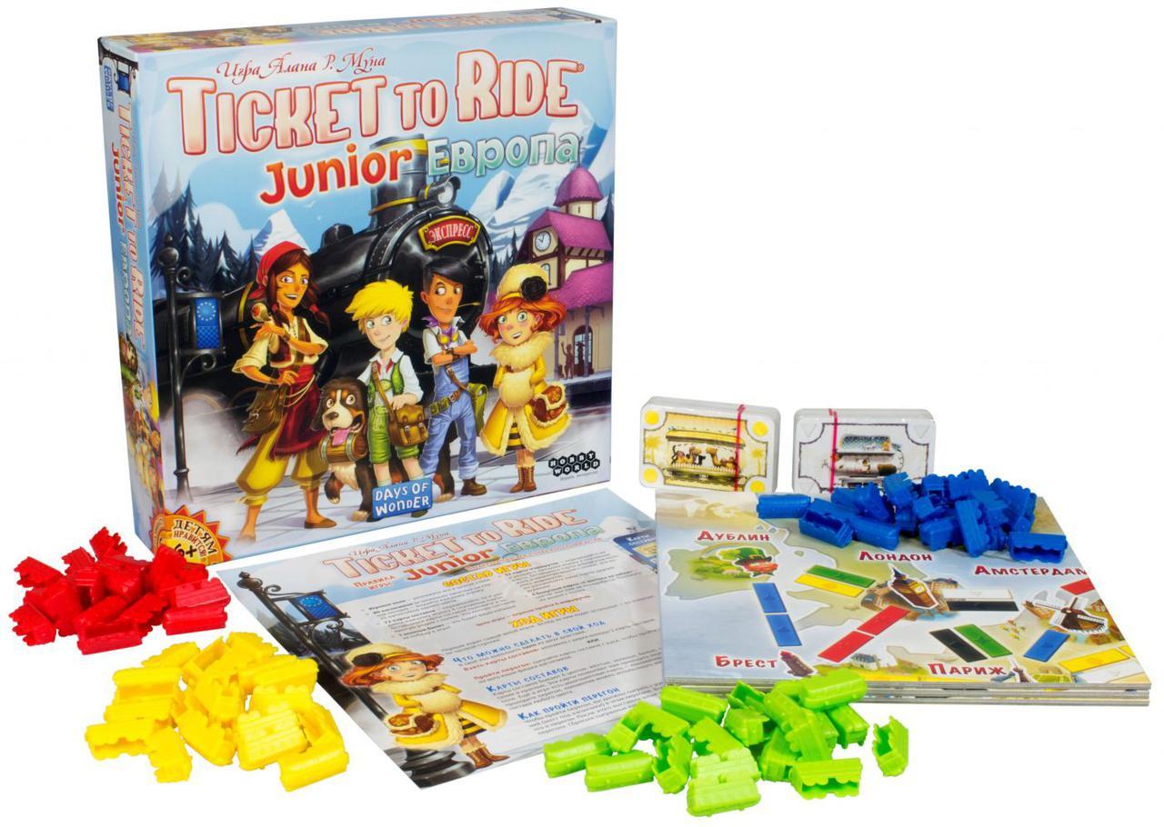 Настольная игра: Ticket to Ride Junior: Европа - фото 3