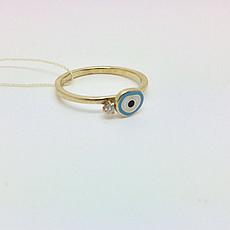 Детское золотое кольцо с бриллиантом