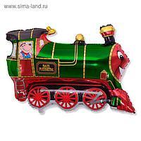 """Шар фольгированный 30"""" «Поезд», цвет зелёный"""
