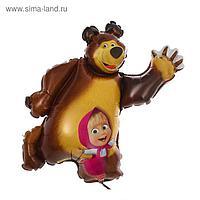 """Шар фольгированный 14"""" «Маша и Медведь» для палочки"""
