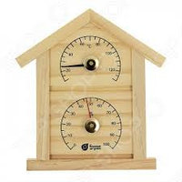 Термометр с гигрометром Банная станция Домик 23,6*22*1,9 см