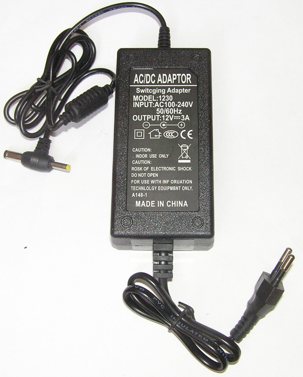 Адаптер Блок питания 12V 3A для SMD и мониторов