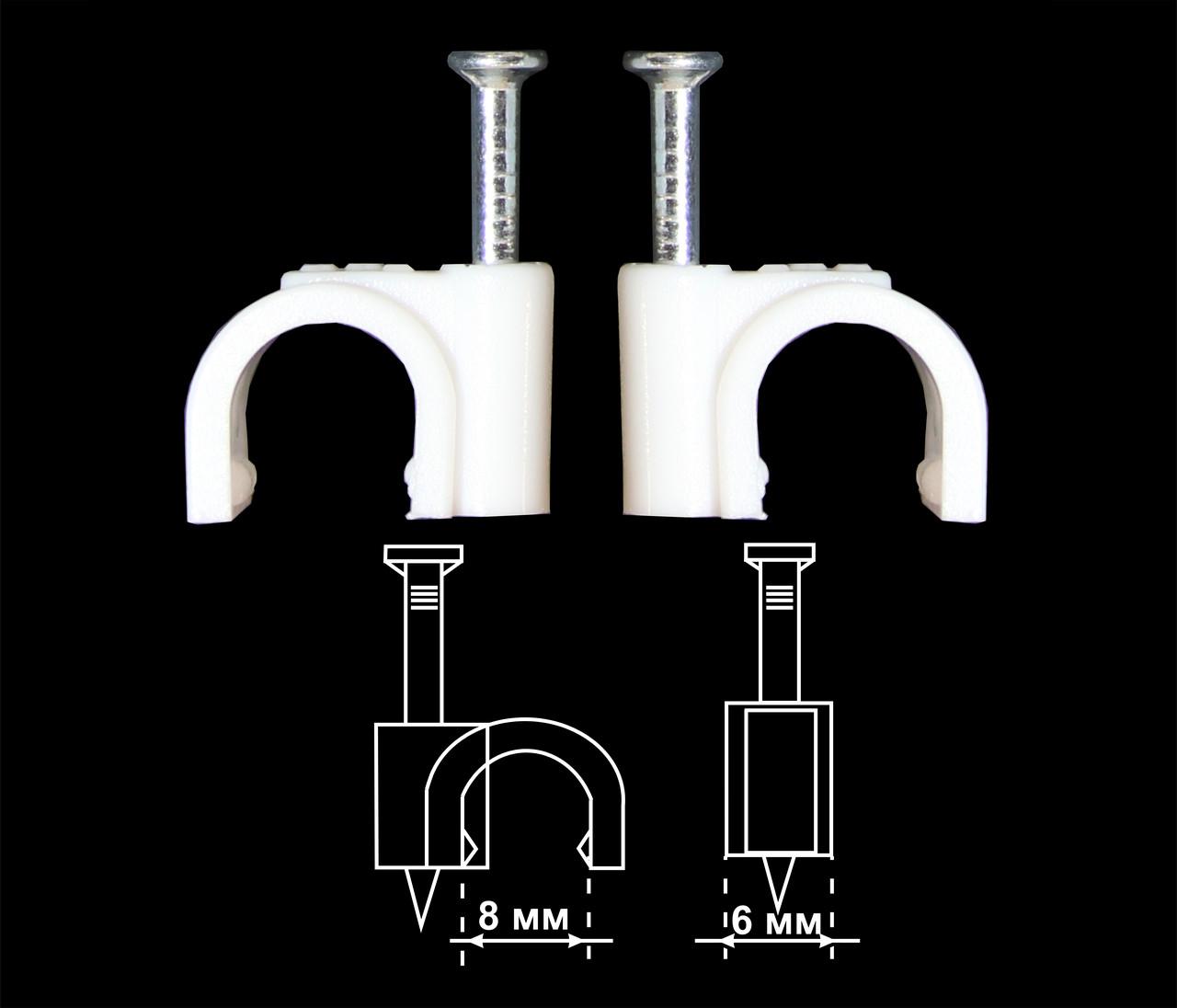 Круглая скоба 8 мм (EKT)