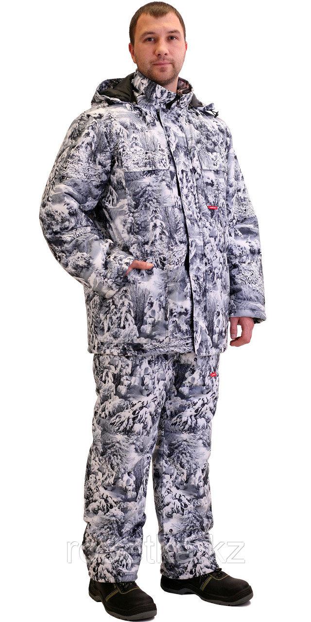 """Костюм """"Тайга"""" зимний: куртка, брюки. (тк.Алова) КМФ Белый лес"""