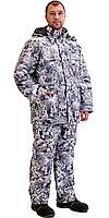 """Костюм """"Тайга"""" зимний: куртка, брюки. (тк.Алова) КМФ Белый лес, фото 1"""