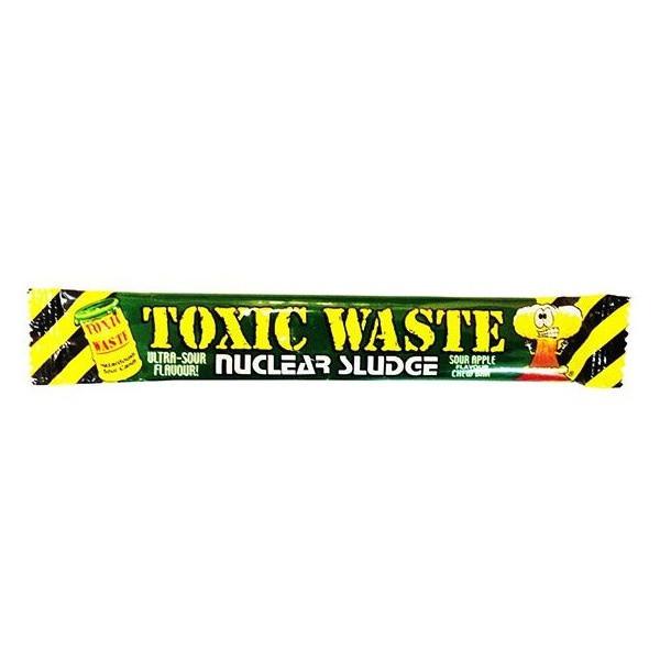 """Жев.конфета """"TOXIC"""" зеленая -яблоко 20грх50шт /TOXIC WASTE/Пакистан"""