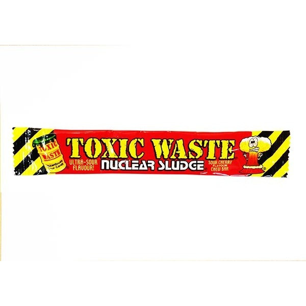 "Жев.конфета ""TOXIC"" красная -вишня 20гр  /TOXIC WASTE/Пакистан"