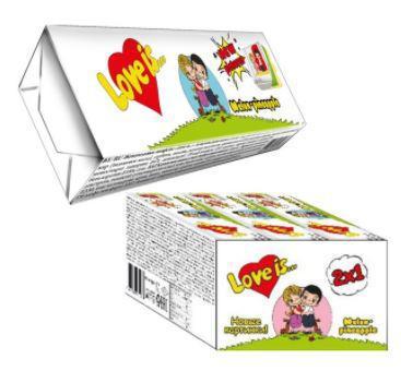 """Жевательные конфеты """"Love is""""  со вкусом Дыня-Ананас 25гр / Турция/"""