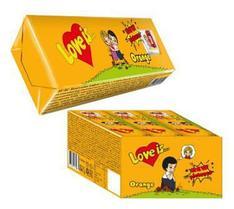 """Жевательные конфеты """"Love is"""" со вкусом Манго - Апельсина 25гр / Турция/"""