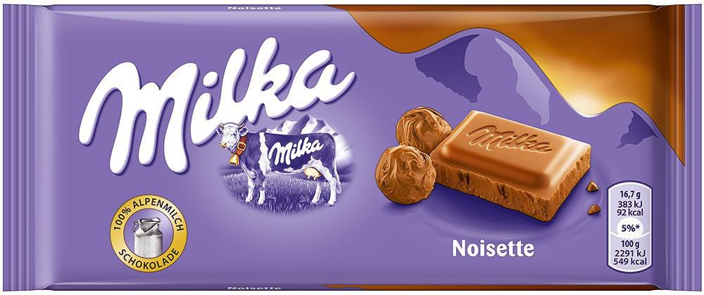 Milka Noisette (100 грамм) (22 шт в упаковке)