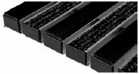 Придверные решётки Step резина + текстиль 390×590