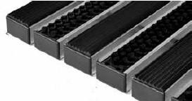 Придверные решётки Step резина + щетка 390×590