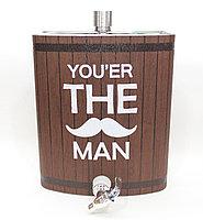Подарочная фляжка, you're the man, 28*21 см