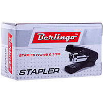 Мини-степлер №24/6, 26/6 Berlingo до 20л., пластиковый корпус., фото 2