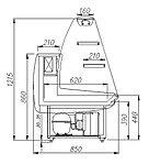 Кондитерская витрина Carboma K85 SM 1,2-1 (ВХСд-1,2 ЭКО) предназначена для демонстрации, охлаждения и кратковр, фото 2