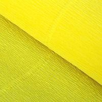 Бумага гофрированная 575 лимонная, 50 см х 2,5 м, фото 1