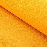 Бумага гофрированная 576 светло-оранжевая, 50 см х 2,5 м, фото 1
