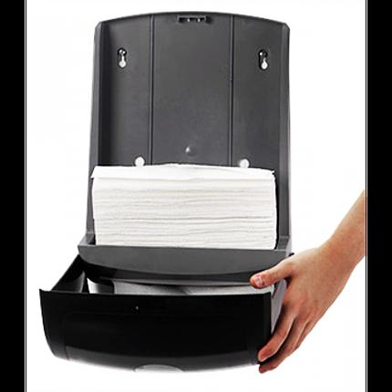 Диспенсер бумажных полотенец листовых белый, фото 2