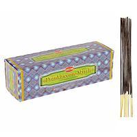"""Благовония """"HEM"""" 8 палочек угольные frankincense - myrrh, фото 1"""