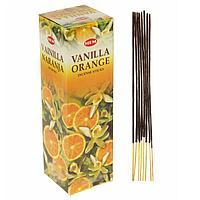 """Благовония """"HEM"""" 8 палочек угольные vanilla orange, фото 1"""