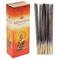 """Благовония """"HEM"""" 20 палочек угольные meditation, фото 1"""
