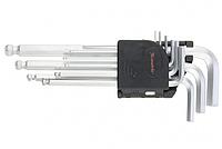(11233) Набор ключей имбусовых HEX, 1,5 10 мм, CrV, 9 шт., удлиненные, с шаром// MATRIX