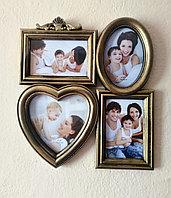 "Мини коллаж ""Счастливая семья"" на 4 фото, фото 1"
