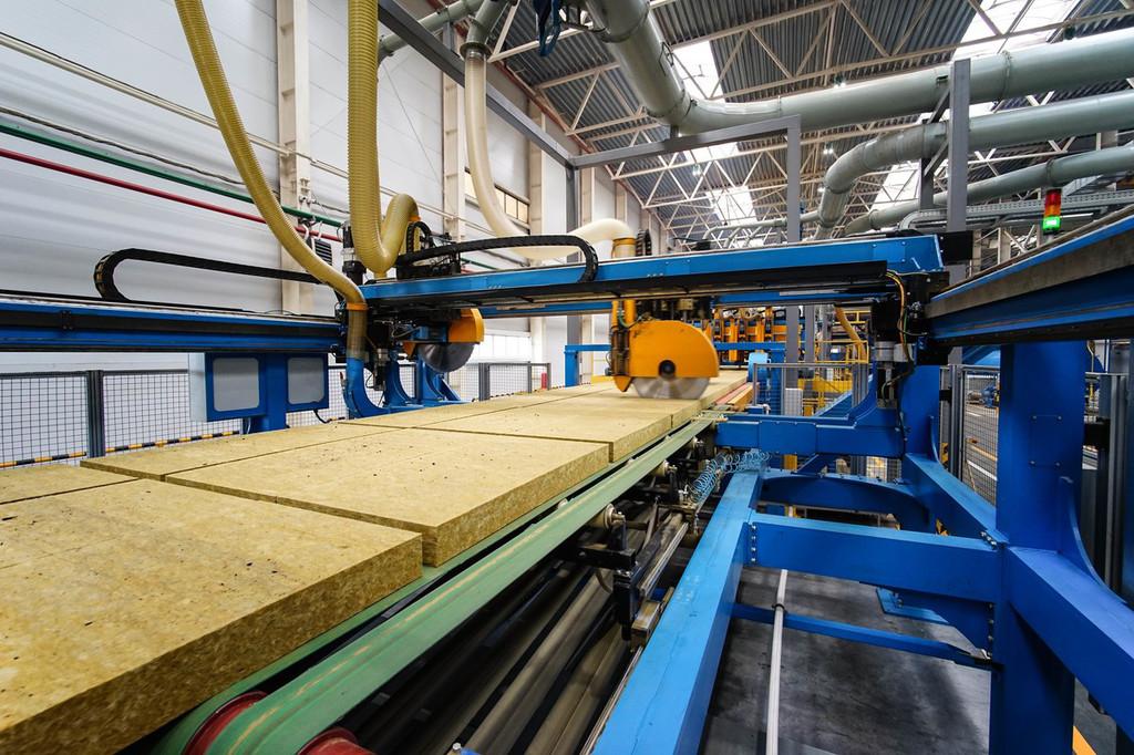 Производство мин плиты Isover