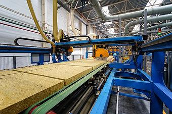 Производство мин плиты Isover 1